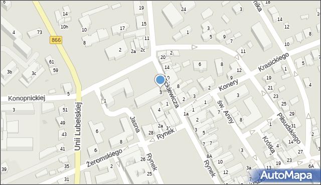 Lubaczów, Mickiewicza Adama, 3, mapa Lubaczów