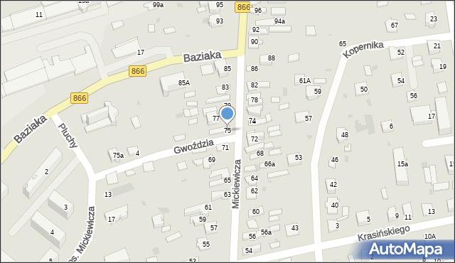 Lubaczów, Mickiewicza Adama, 75, mapa Lubaczów