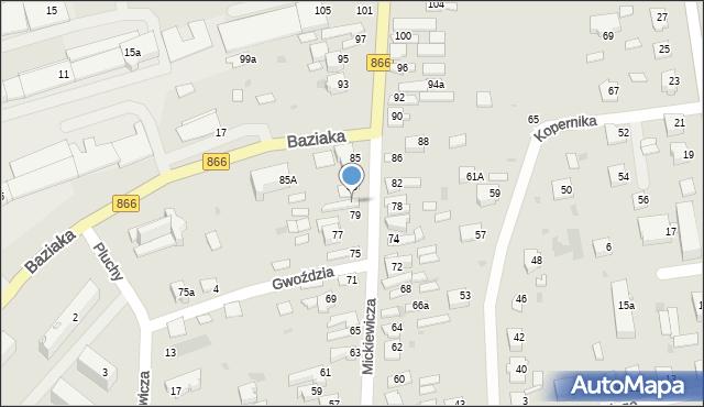 Lubaczów, Mickiewicza Adama, 81, mapa Lubaczów
