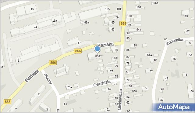 Lubaczów, Mickiewicza Adama, 85A, mapa Lubaczów