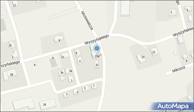 Luzino, Mickiewicza Adama, 33a, mapa Luzino