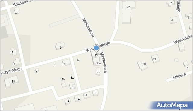 Luzino, Mickiewicza Adama, 33b, mapa Luzino