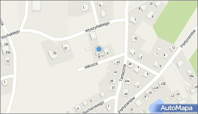 Luzino, Miłosza Czesława, 6, mapa Luzino