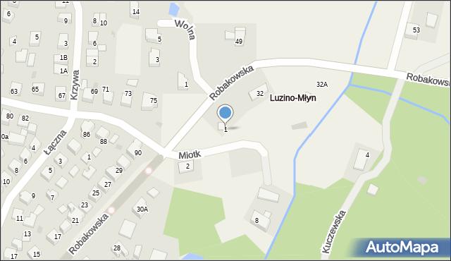 Luzino, Miotk Pawła, 1, mapa Luzino