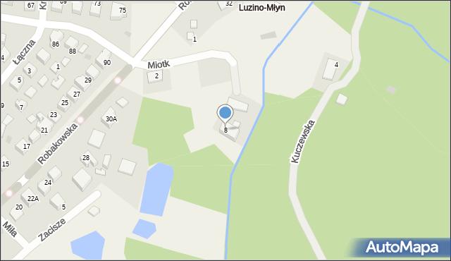 Luzino, Miotk Pawła, 8, mapa Luzino