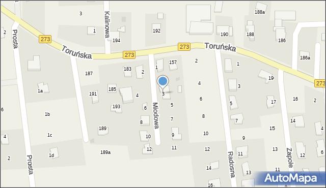 Mała Nieszawka, Miodowa, 3, mapa Mała Nieszawka