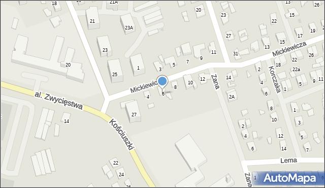 Olecko, Mickiewicza Adama, 6, mapa Olecko