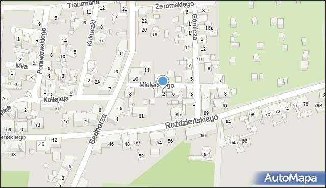Piekary Śląskie, Mielęckiego Józefa, 2, mapa Piekary Śląskie