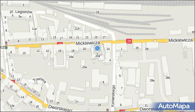 Przemyśl, Mickiewicza Adama, 22a, mapa Przemyśla