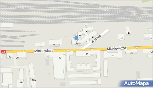 Przemyśl, Mickiewicza Adama, 39, mapa Przemyśla