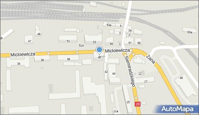 Przemyśl, Mickiewicza Adama, 40, mapa Przemyśla