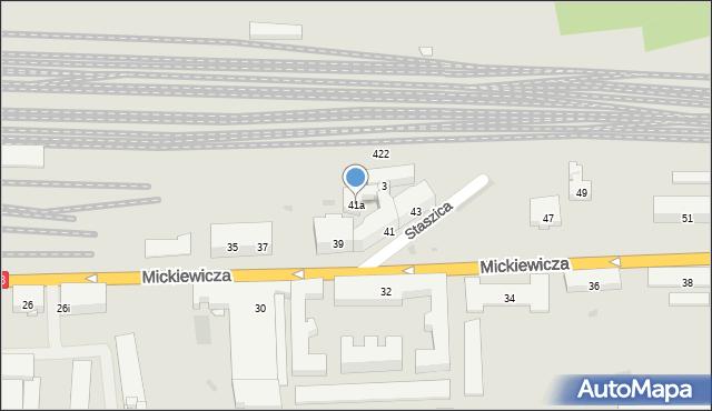 Przemyśl, Mickiewicza Adama, 41a, mapa Przemyśla