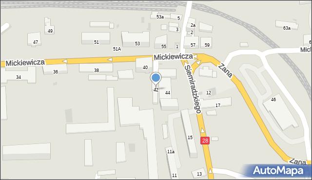 Przemyśl, Mickiewicza Adama, 42, mapa Przemyśla