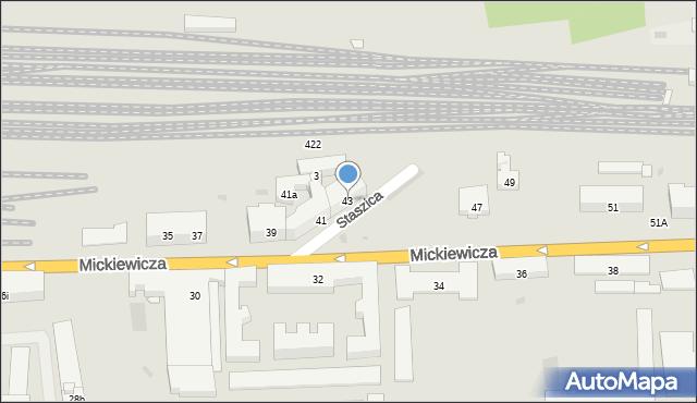 Przemyśl, Mickiewicza Adama, 43, mapa Przemyśla