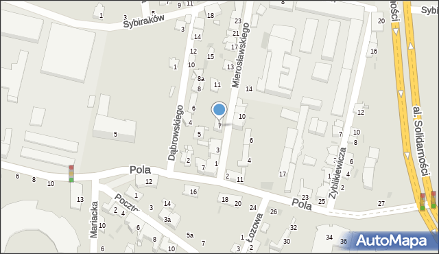 Przemyśl, Mierosławskiego Ludwika, gen., 7, mapa Przemyśla