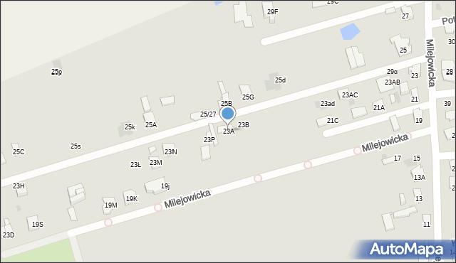 Radom, Milejowicka, 23A, mapa Radomia
