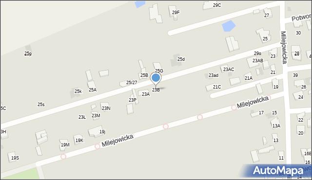 Radom, Milejowicka, 23B, mapa Radomia