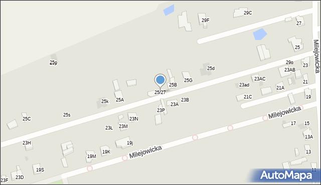 Radom, Milejowicka, 25/27, mapa Radomia