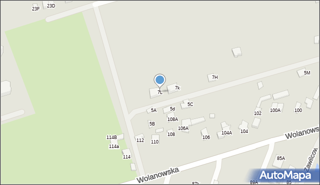 Radom, Milejowicka, 7L, mapa Radomia