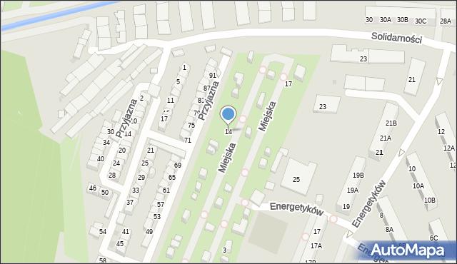 Ruda Śląska, Miejska, 14, mapa Rudy Śląskiej