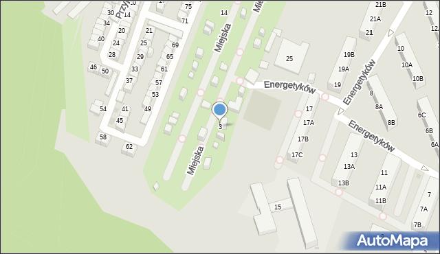 Ruda Śląska, Miejska, 3, mapa Rudy Śląskiej