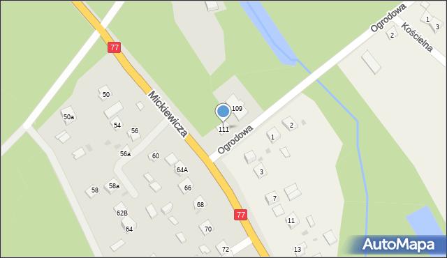 Rudnik nad Sanem, Mickiewicza Adama, 111, mapa Rudnik nad Sanem
