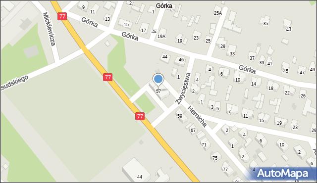 Rudnik nad Sanem, Mickiewicza Adama, 57, mapa Rudnik nad Sanem