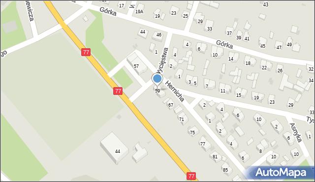 Rudnik nad Sanem, Mickiewicza Adama, 59, mapa Rudnik nad Sanem