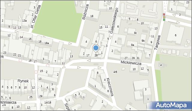 Rzeszów, Mickiewicza Adama, 19, mapa Rzeszów