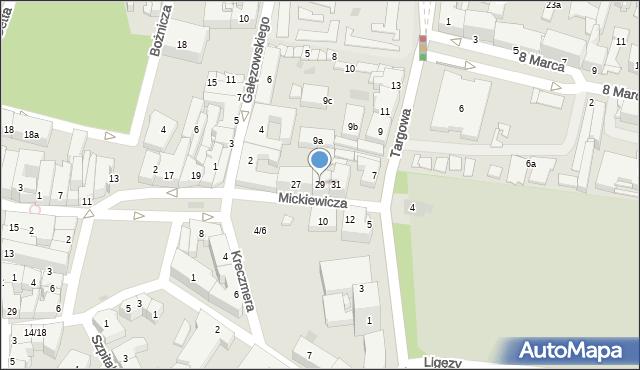 Rzeszów, Mickiewicza Adama, 29, mapa Rzeszów