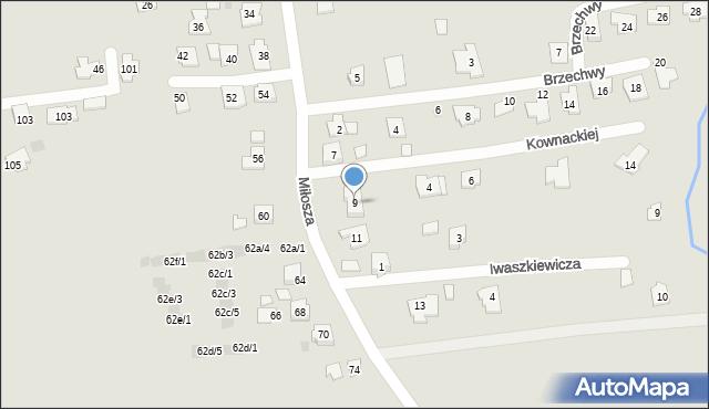Rzeszów, Miłosza Czesława, 9, mapa Rzeszów