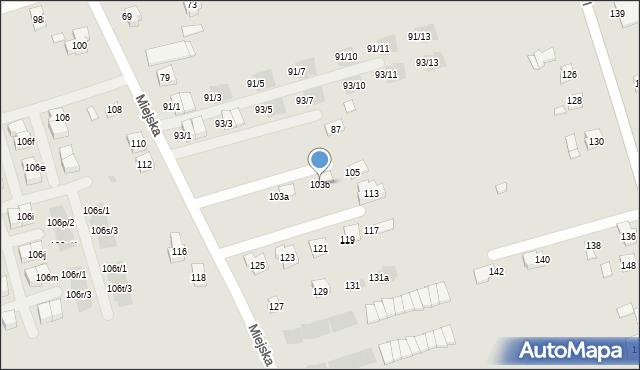 Rzeszów, Miejska, 103b, mapa Rzeszów