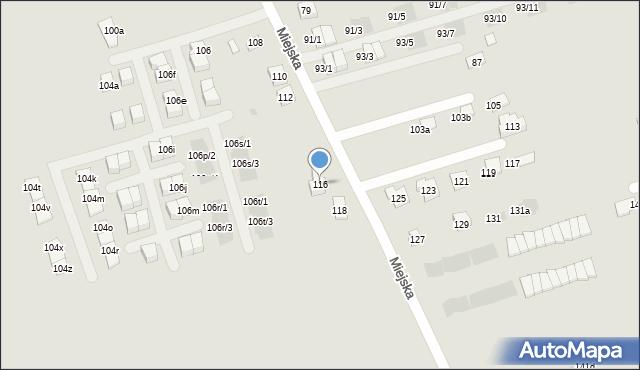 Rzeszów, Miejska, 116, mapa Rzeszów