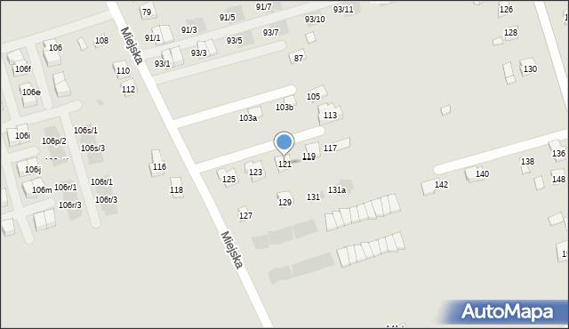 Rzeszów, Miejska, 121, mapa Rzeszów