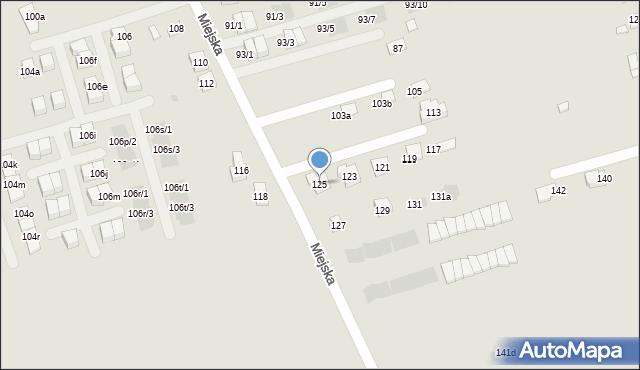 Rzeszów, Miejska, 125, mapa Rzeszów