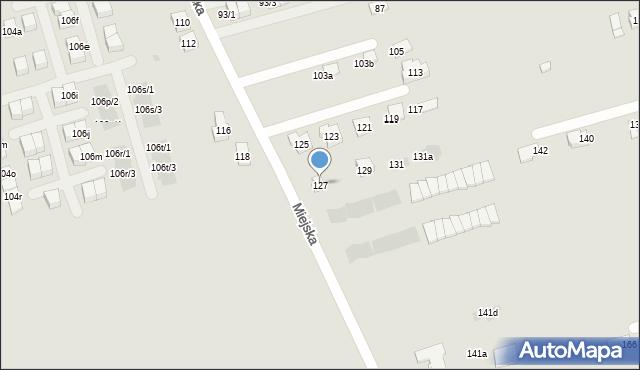 Rzeszów, Miejska, 127, mapa Rzeszów