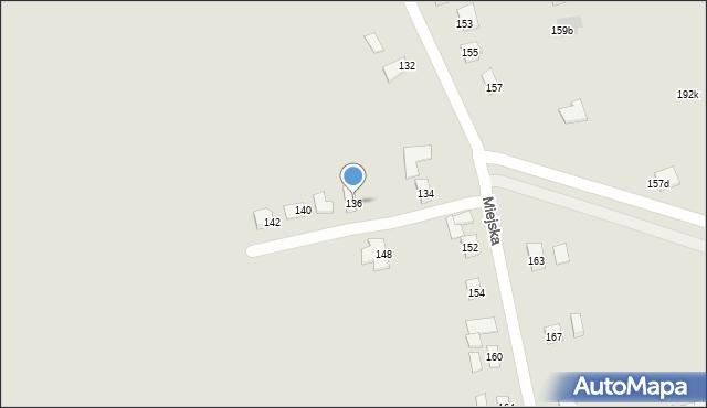 Rzeszów, Miejska, 136, mapa Rzeszów