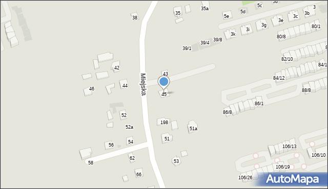 Rzeszów, Miejska, 45, mapa Rzeszów