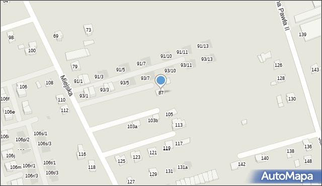 Rzeszów, Miejska, 87, mapa Rzeszów