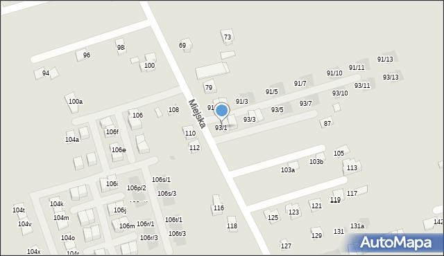 Rzeszów, Miejska, 93/1, mapa Rzeszów