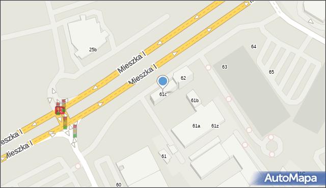 Szczecin, Mieszka I, 61c, mapa Szczecina