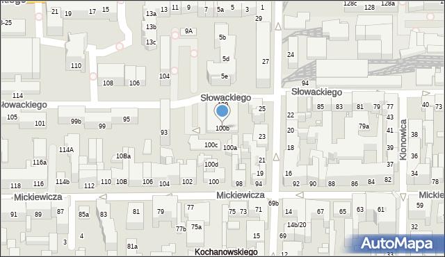 Toruń, Mickiewicza Adama, 100b, mapa Torunia