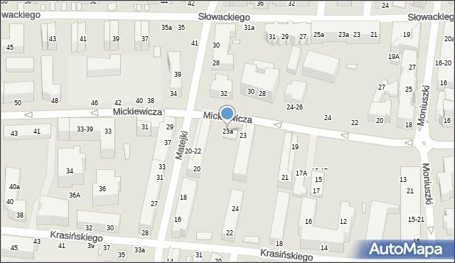 Toruń, Mickiewicza Adama, 23a, mapa Torunia