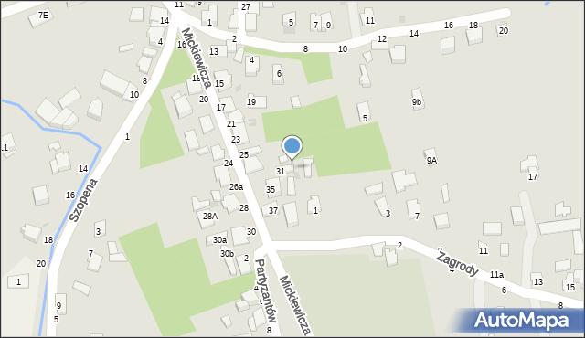Tyczyn, Mickiewicza Adama, 33, mapa Tyczyn