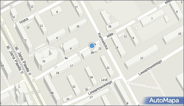 Warszawa, Miła, 15, mapa Warszawy