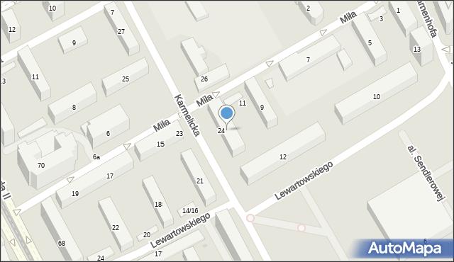 Warszawa, Miła, 13, mapa Warszawy