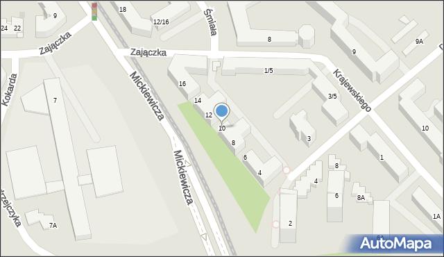Warszawa, Mickiewicza Adama, 10, mapa Warszawy