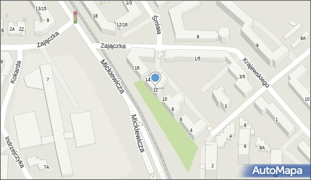 Warszawa, Mickiewicza Adama, 12, mapa Warszawy