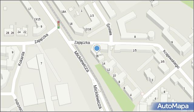 Warszawa, Mickiewicza Adama, 16, mapa Warszawy