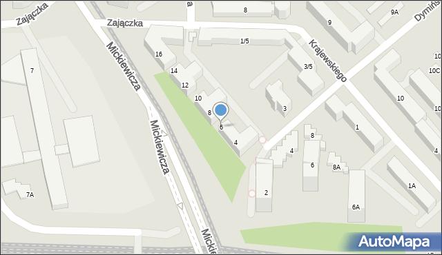 Warszawa, Mickiewicza Adama, 6, mapa Warszawy